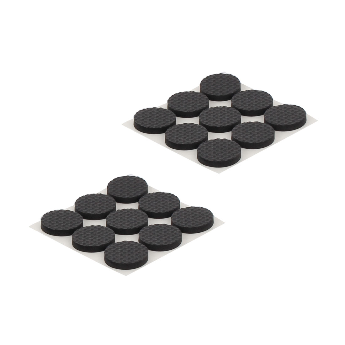 Household Furniture Table Chair Rubber Round Shaped Protection Cushion Pads Black 18pcs