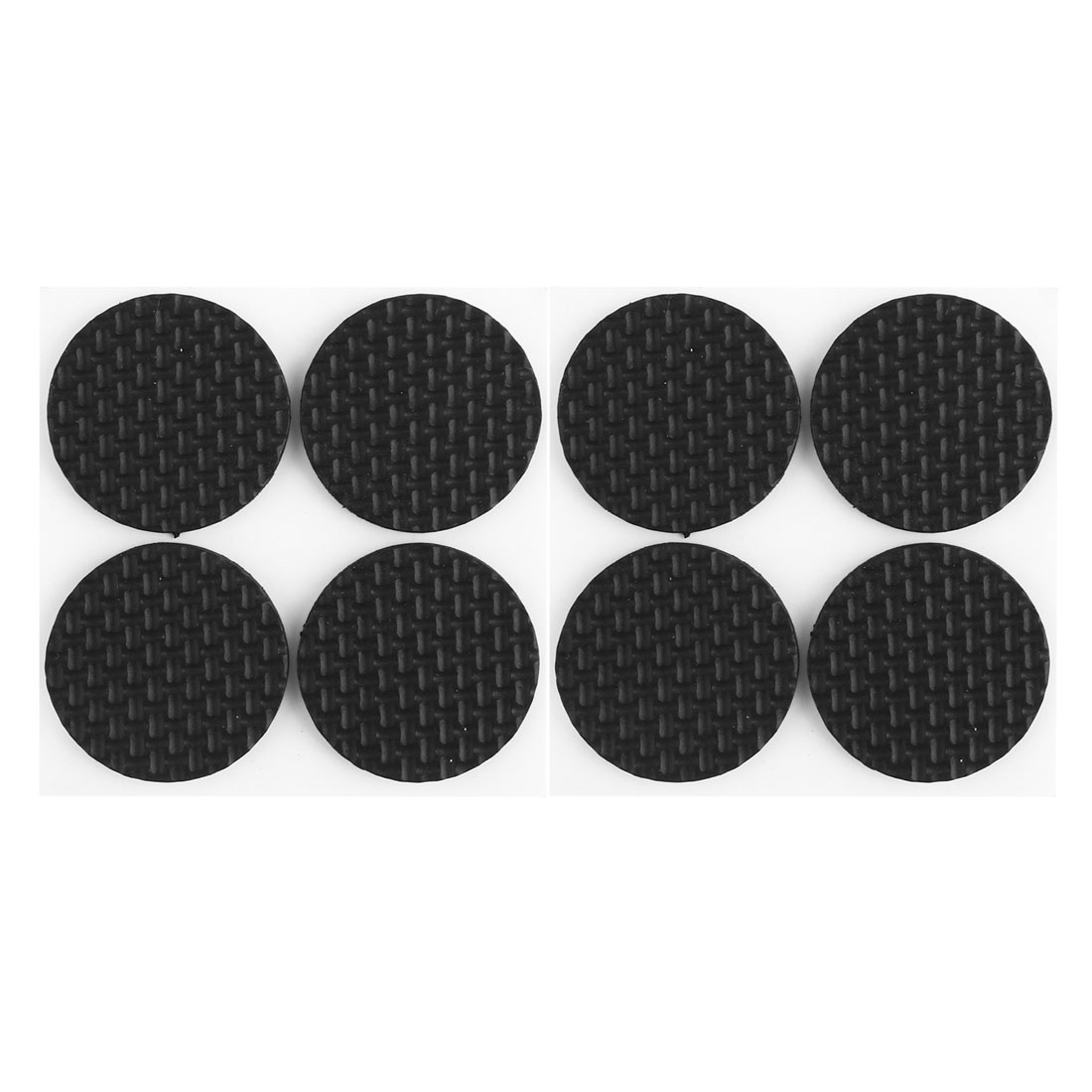 Household Furniture Table Chair Rubber Round Shaped Protection Cushion Pads Black 8pcs
