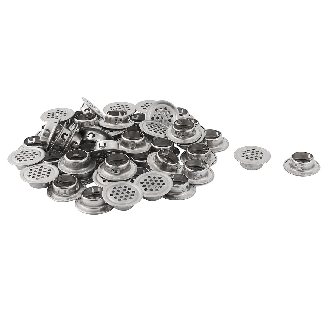 Household Stainless Steel Perforated Furniture Mesh Air Vents 19mm Dia 60pcs