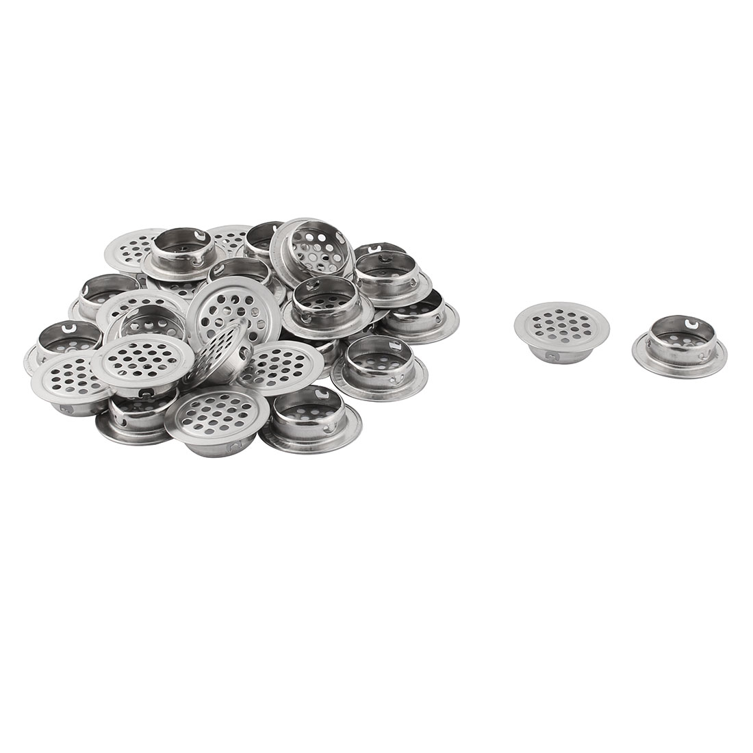 Home Stainless Steel Furniture Wardrobe Perforated Mesh Air Vents 29mm Dia 30pcs