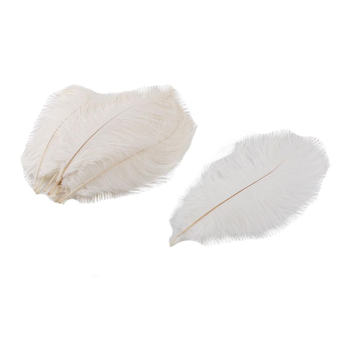 Wedding Party Clothes DIY Decor Ostrich Feathers Plume White 20-25cm Length 10pcs