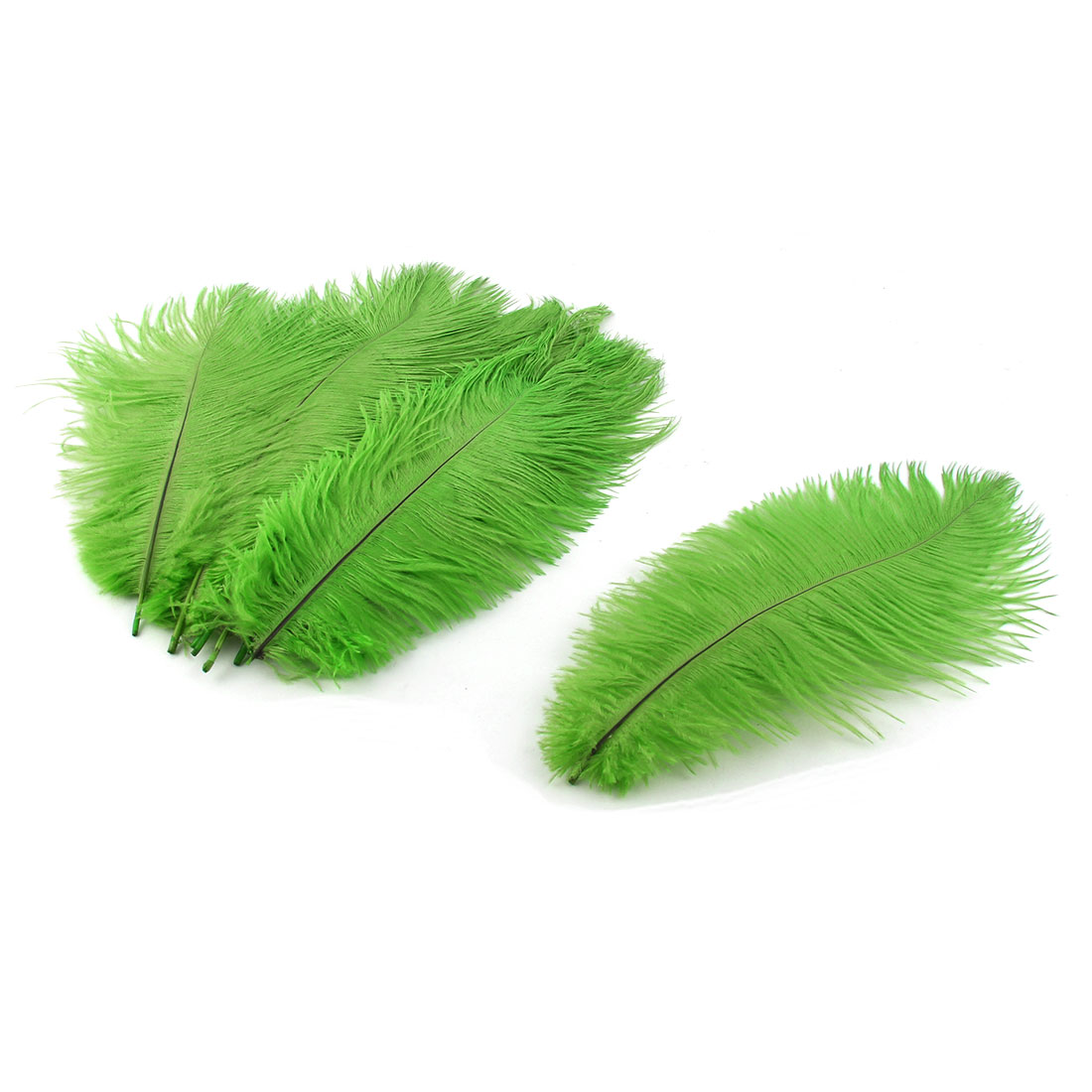 Wedding Party Clothes DIY Decor Ostrich Feathers Plume Green 20-25cm Length 10pcs