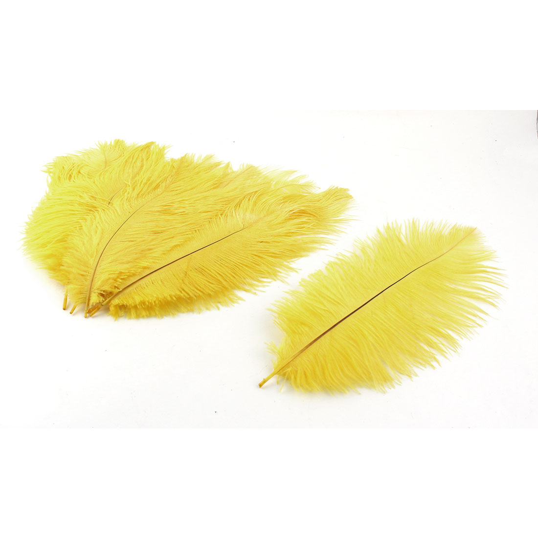 Wedding Party Clothes DIY Decor Ostrich Feathers Plume Yellow 20-25cm Length 10pcs