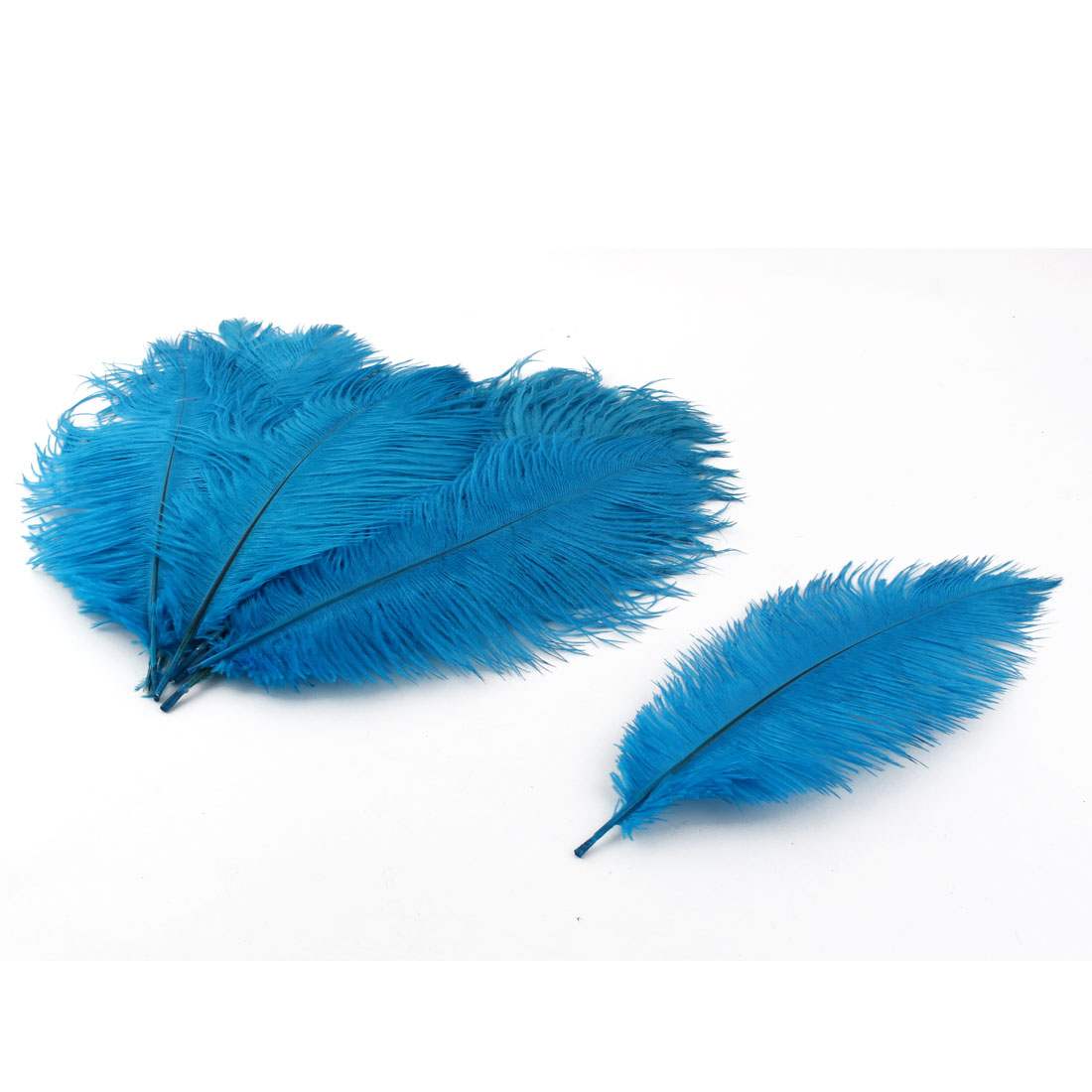 Wedding Party Clothes DIY Decor Ostrich Feathers Plume Lake Blue 20-25cm Length 10pcs