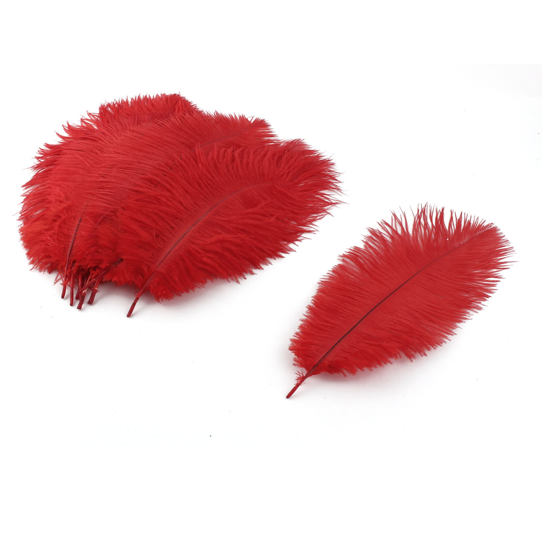Wedding Party Clothes DIY Decor Ostrich Feathers Plume Red 20-25cm Length 10pcs