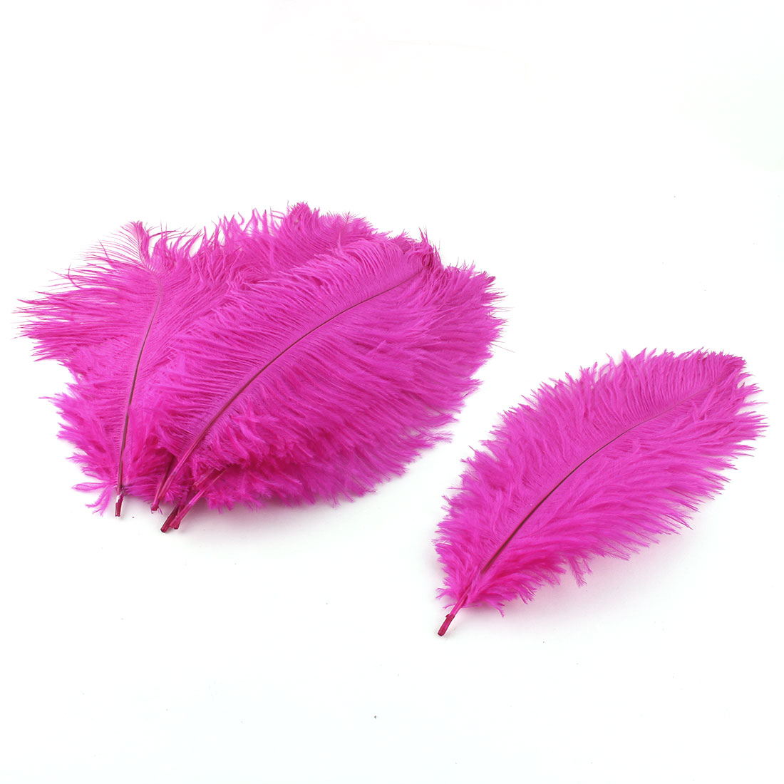 Wedding Party Clothes DIY Decor Ostrich Feathers Plume Fuchsia 20-25cm Length 10pcs