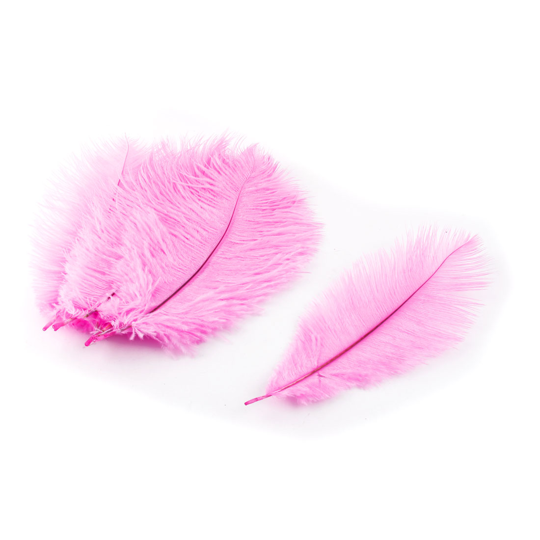 Wedding Party Clothes DIY Decor Ostrich Feathers Plume Pink 20-25cm Length 10pcs