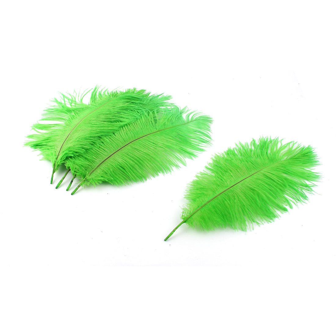 Wedding Party Headwear DIY Decoration Ostrich Feathers Green 25-30cm Length 5pcs