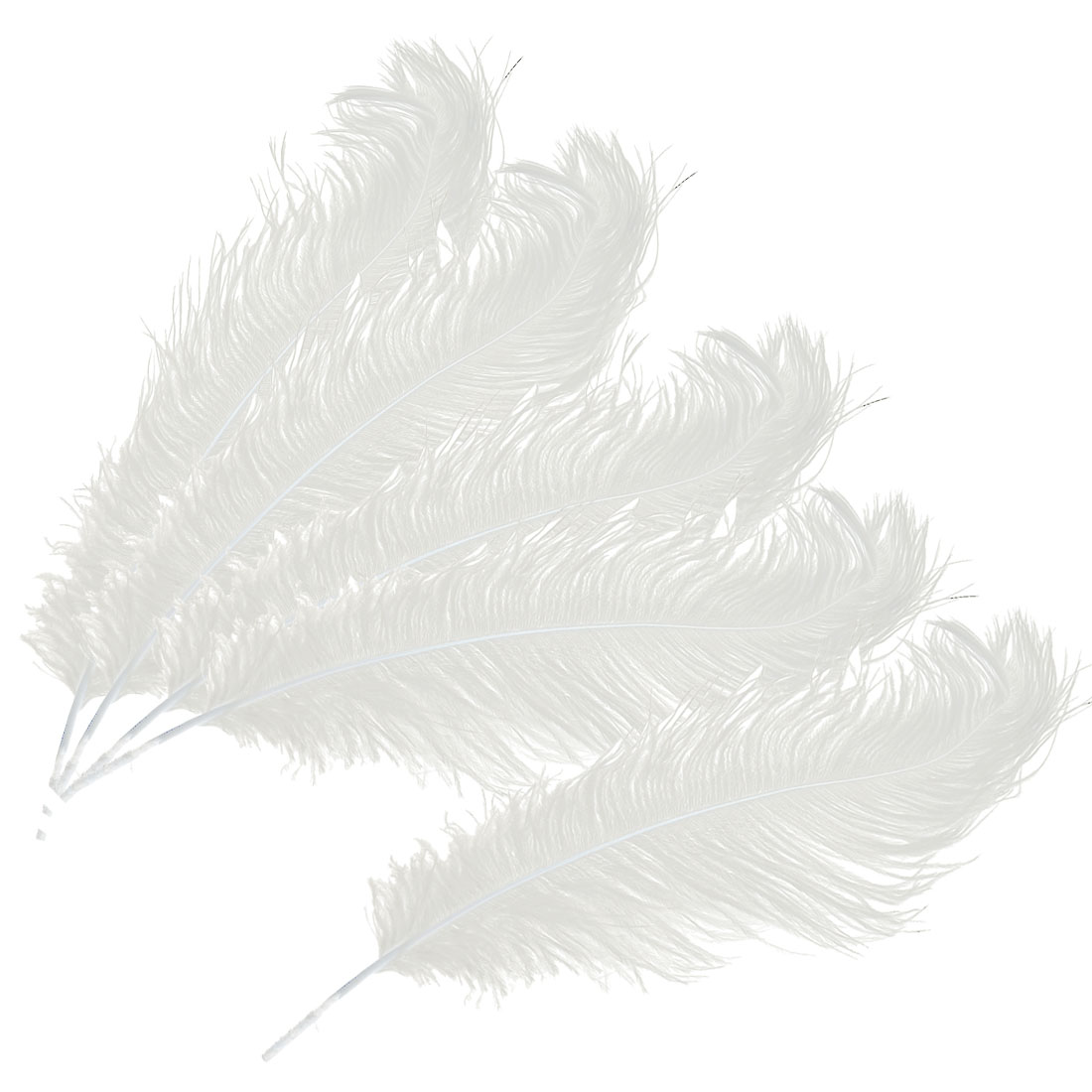 Household Wedding Party Ornament Artificial Ostrich Feather Plume White 30-35cm 5pcs