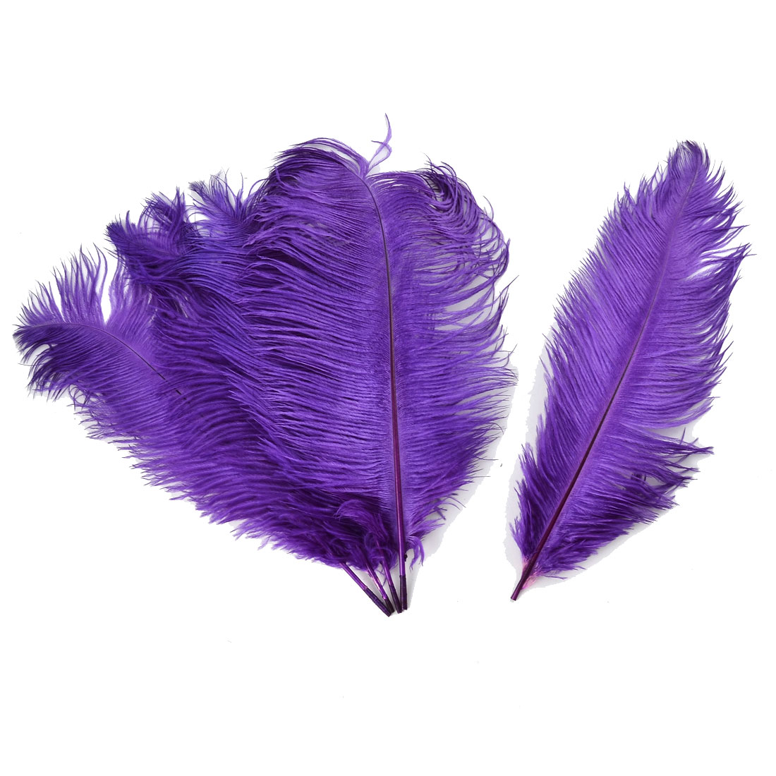 Household Wedding Party Ornament Artificial Ostrich Feather Plume Purple 30-35cm 5pcs