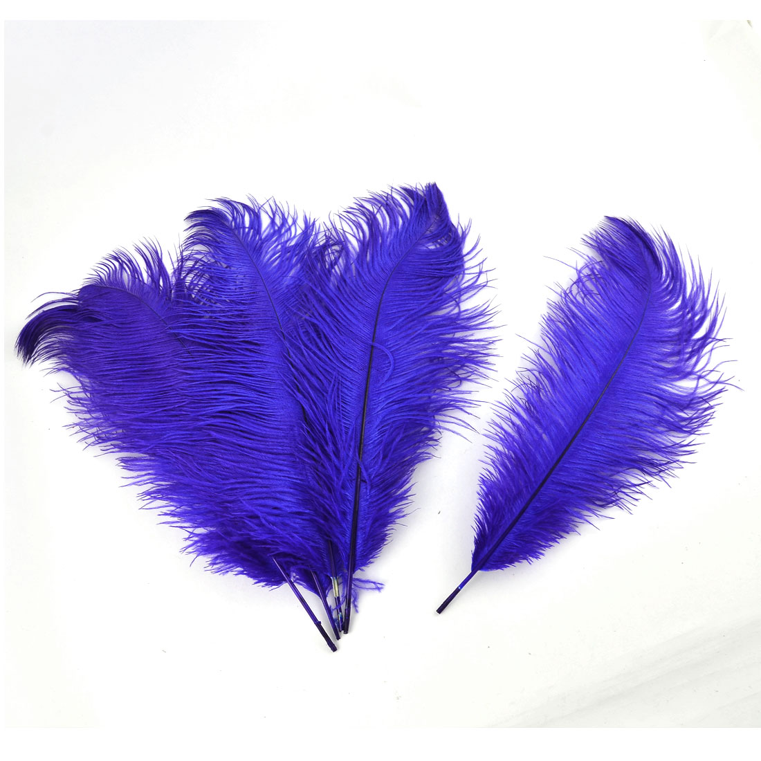 Household Wedding Party Ornament Artificial Ostrich Feather Plume Royal Blue 30-35cm 5pcs