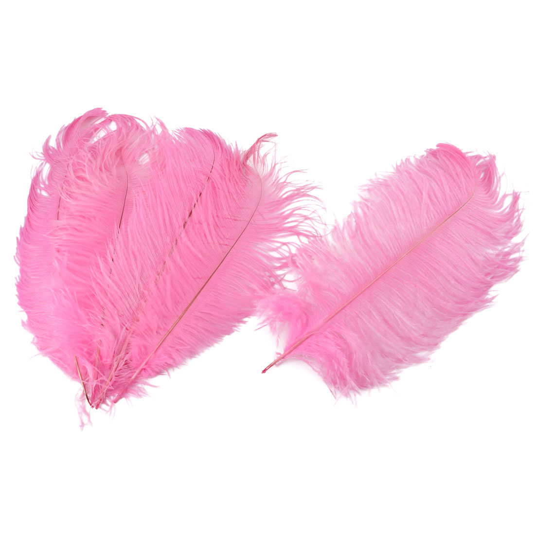 Household Wedding Party Ornament Artificial Ostrich Feather Plume Pink 30-35cm 5pcs