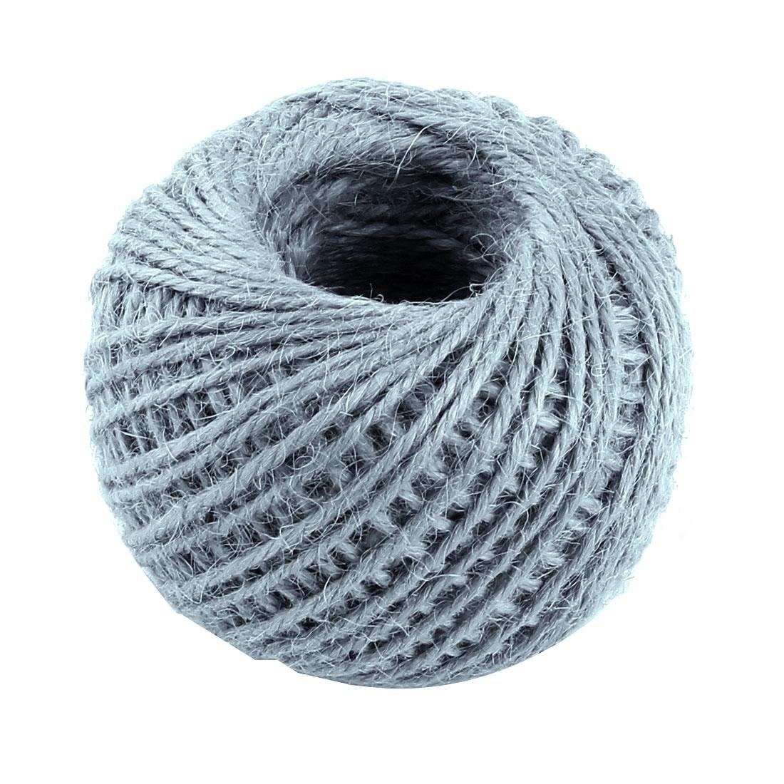 Jute Burlap Ribbon Twine Rope Cord String Wrap Roll Gray 2mm Dia 50m Length