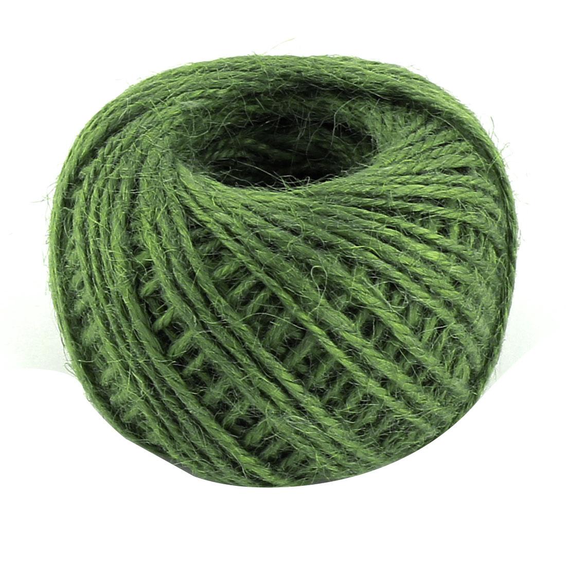 Jute Burlap Ribbon Twine Rope Cord String Pack Roll Green 2mm Dia 50m Length