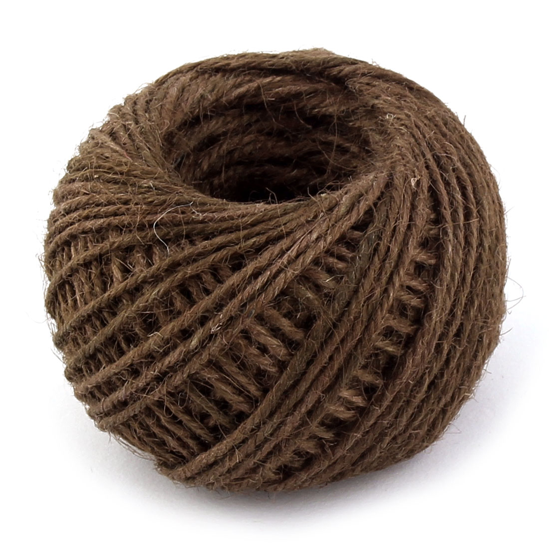 Jute Burlap Ribbon Twine Rope Cord String Wrap Roll Dark Brown 2mm Dia 50m Length