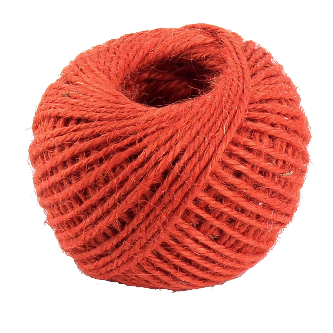 Handcraft Jute Burlap Ribbon Twine Rope Cord String Wrap Roll Orangered Sandy Brown 2mm Dia 50m Length