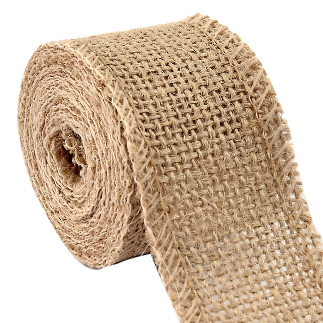 Gift Tags Burlap Belt Strap String Crafting Jute Ribbon Roll Beige 2.2 Yards
