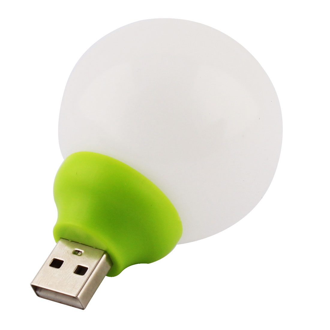 Plastic USB Power Nightlight Desk Ball Lamp Camping Night Light LED Bulb Green