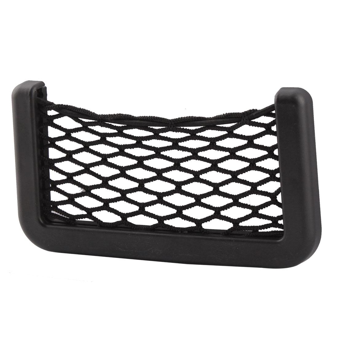 Car Vehicle Nylon Mesh Elastic String Storage Bag Pocket Holder Organizer Black
