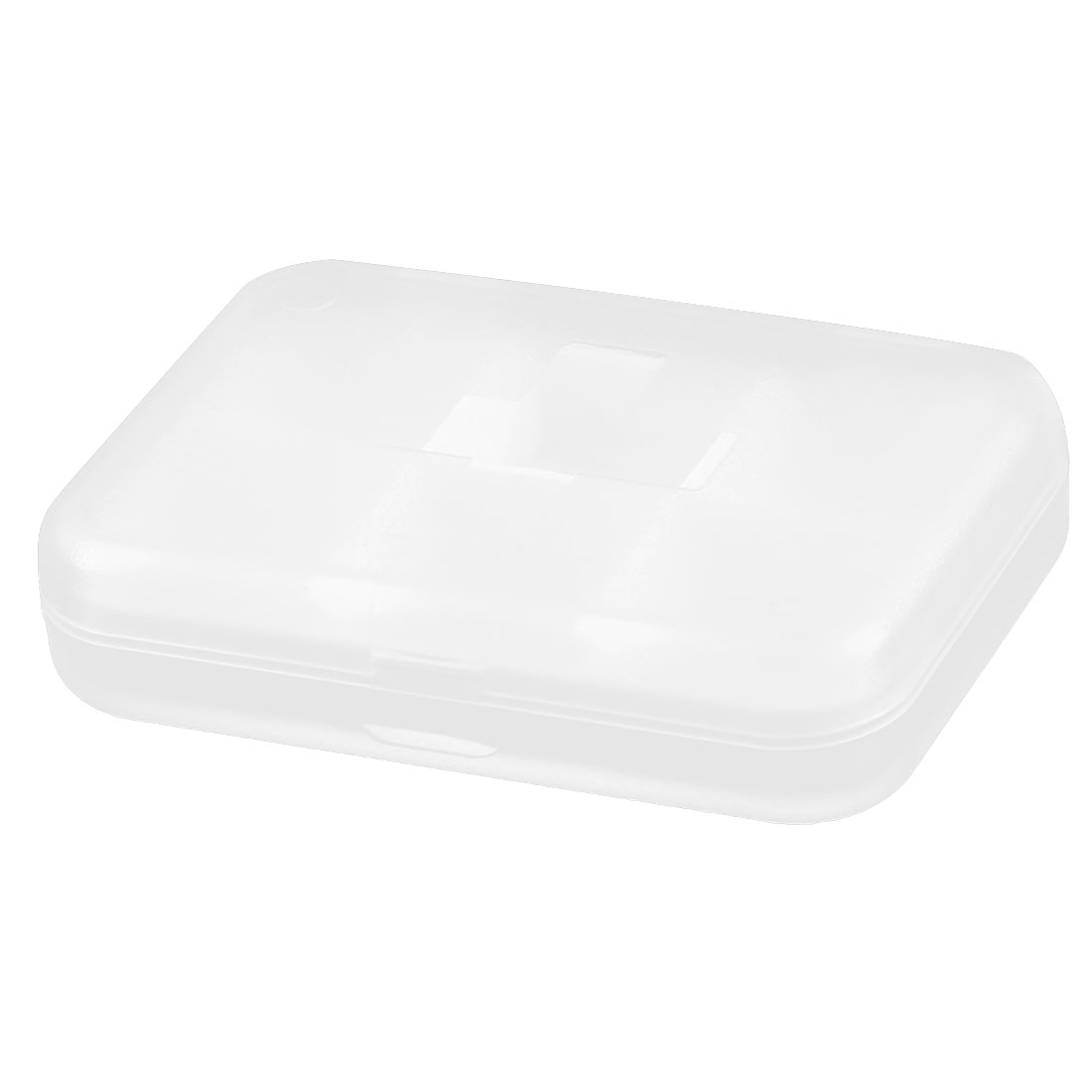 Household Travel Plastic Square Shaped 6 Compartments Capsule Pills Box Case White