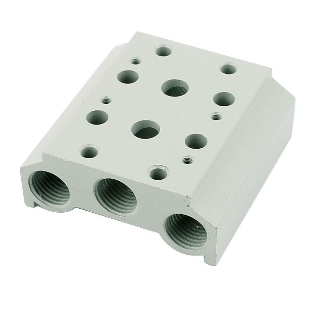 Pneumatic Control Aluminium Block Manifold Solenoid Valve Base 100M 2 Stations