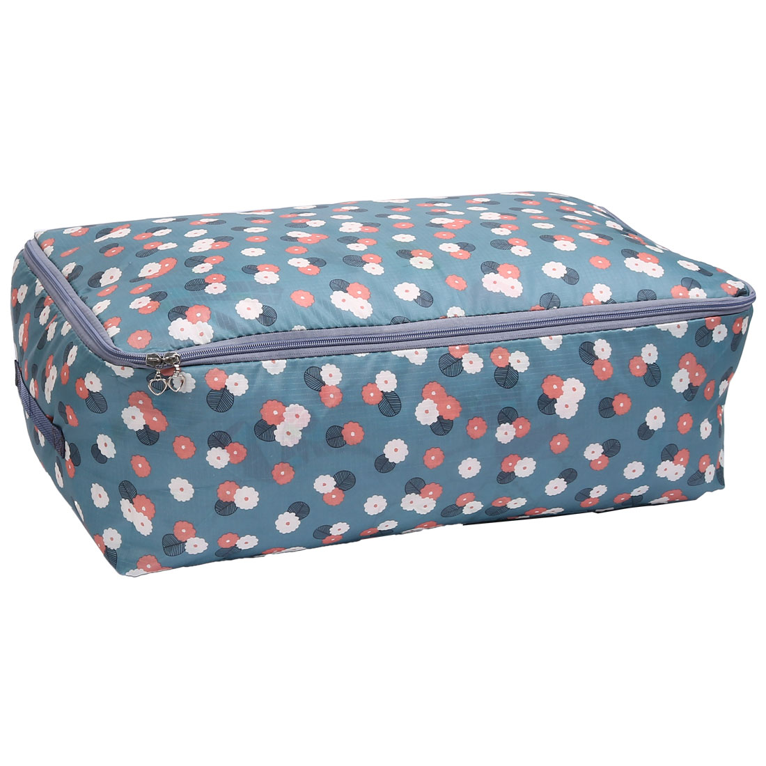 Flower Printed Clothes Quilts Sheet Storage Organizer Bag 55 x 35 x 20 cm
