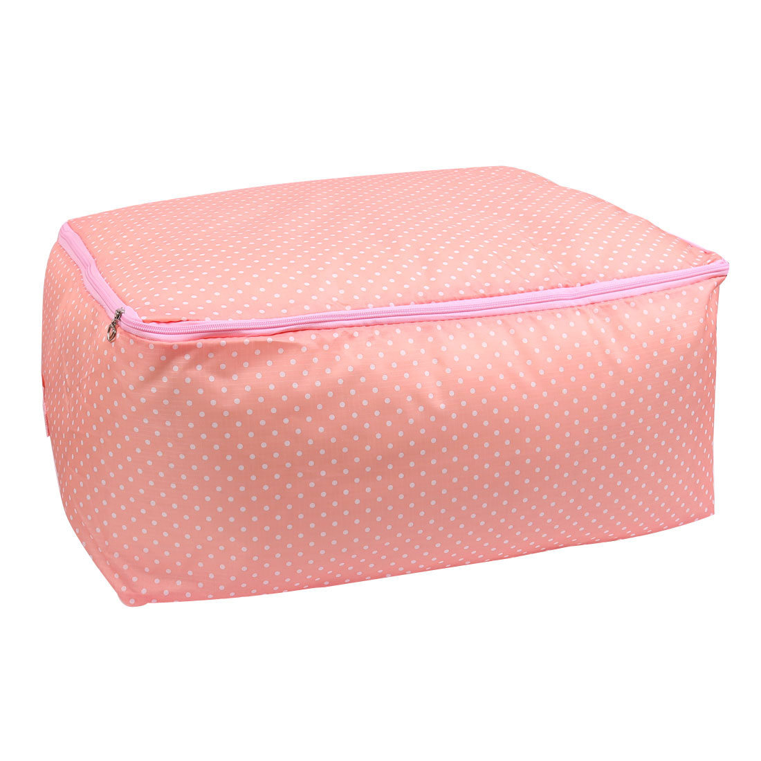 Oxford Cloth Dots Pattern Clothes Quilt Blanket Storage Bag Organizer Coral Pink