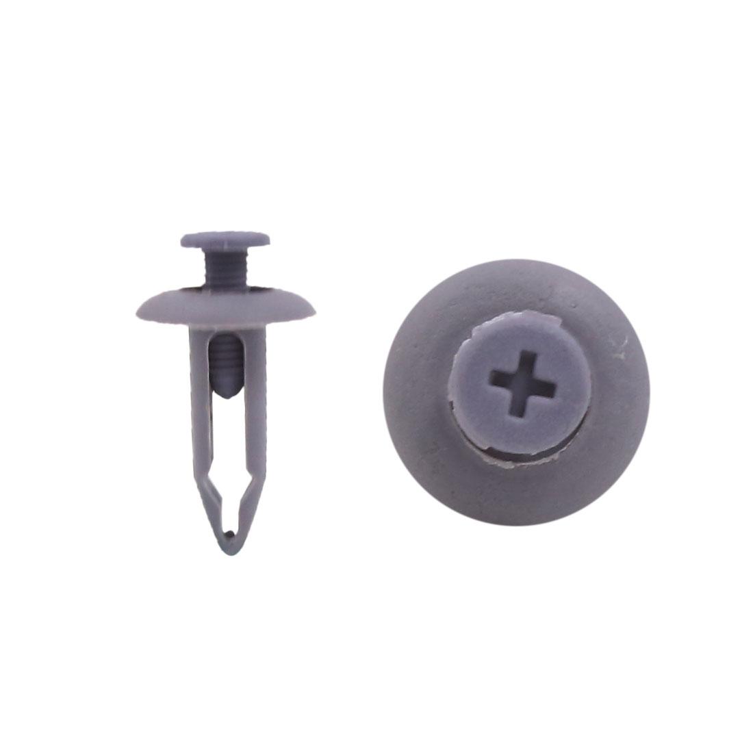 50Pcs Plastic Gray Bumper Fastener 7mm Hole Dia Push Type Clip Retainer Rivets