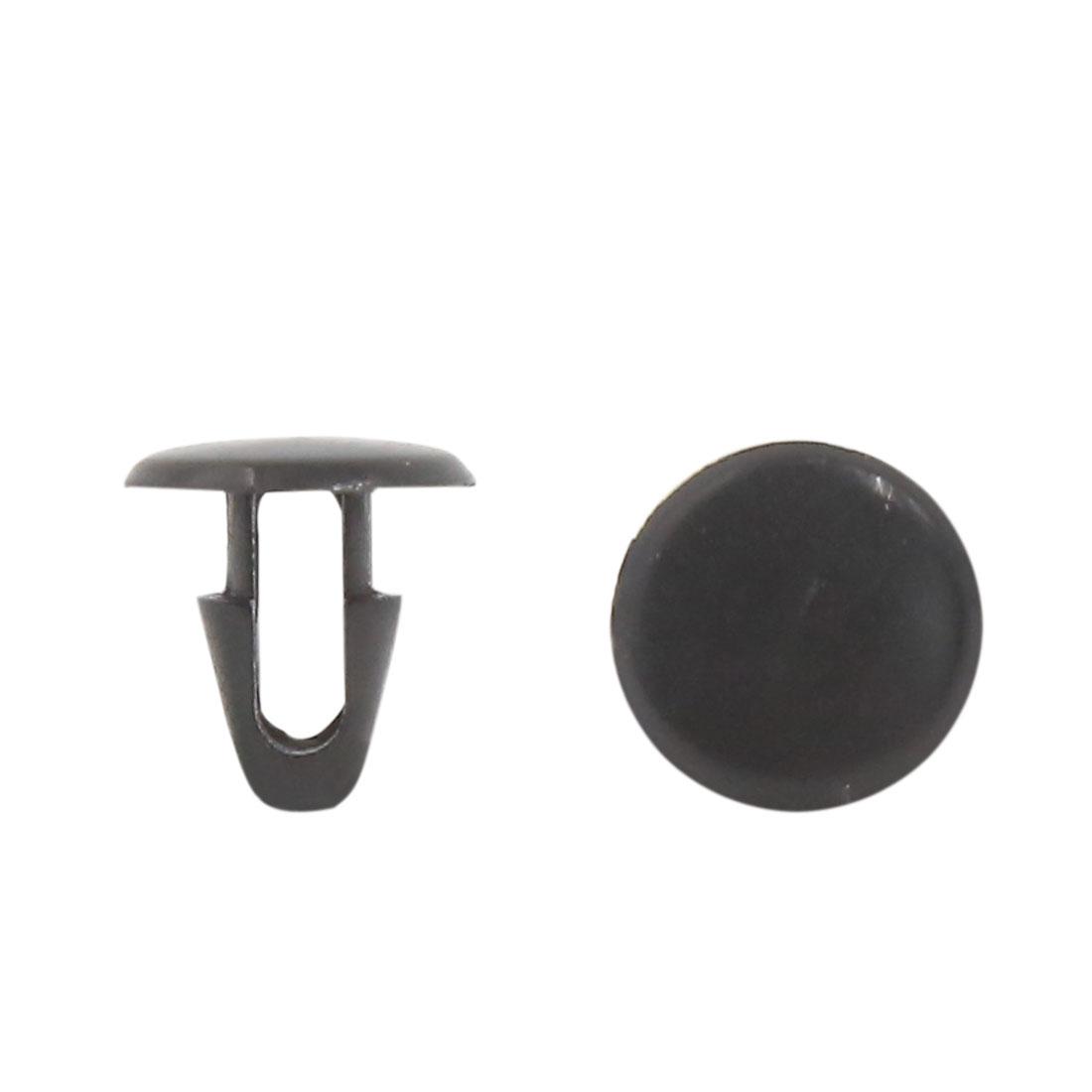 50Pcs 7.5mm Hole Black Plastic Push in Rivet Interior Trim Panel Car Door Clips
