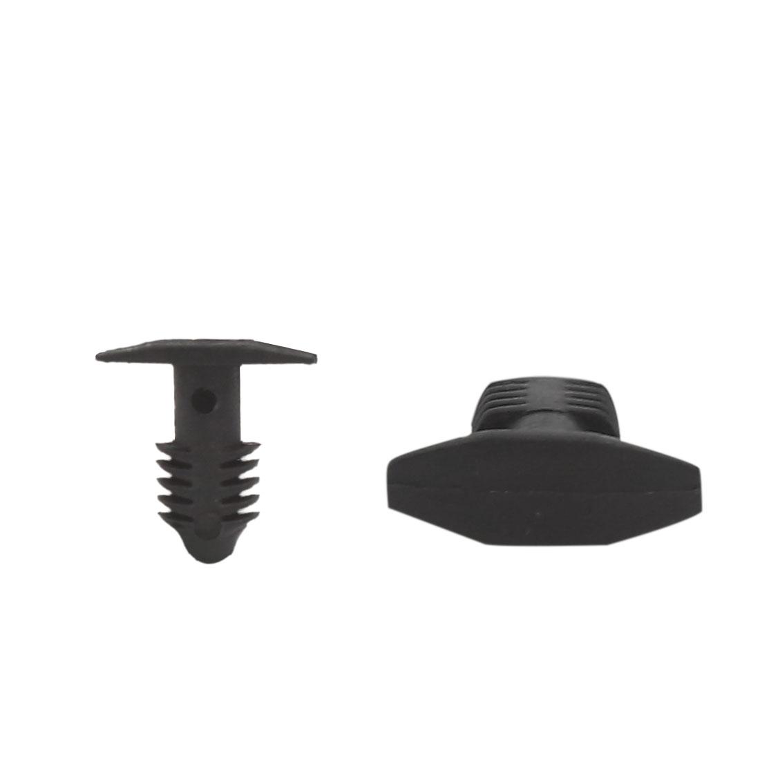 50Pcs Black Car Door Fender Clips 7.5mm Hole Dia Plastic Rivets Fastener