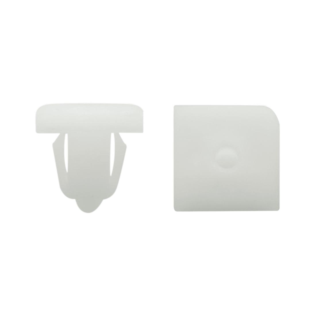 50Pcs Plastic Black Trim Door Panel Retainer Clips Rivet Fastener 12mm Hole Dia