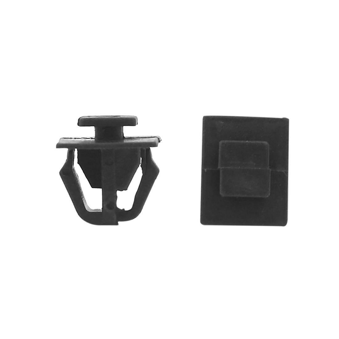50Pcs 12mm Hole Dia Plastic Rivets Fastener Push Clips Black for Car Auto Fender