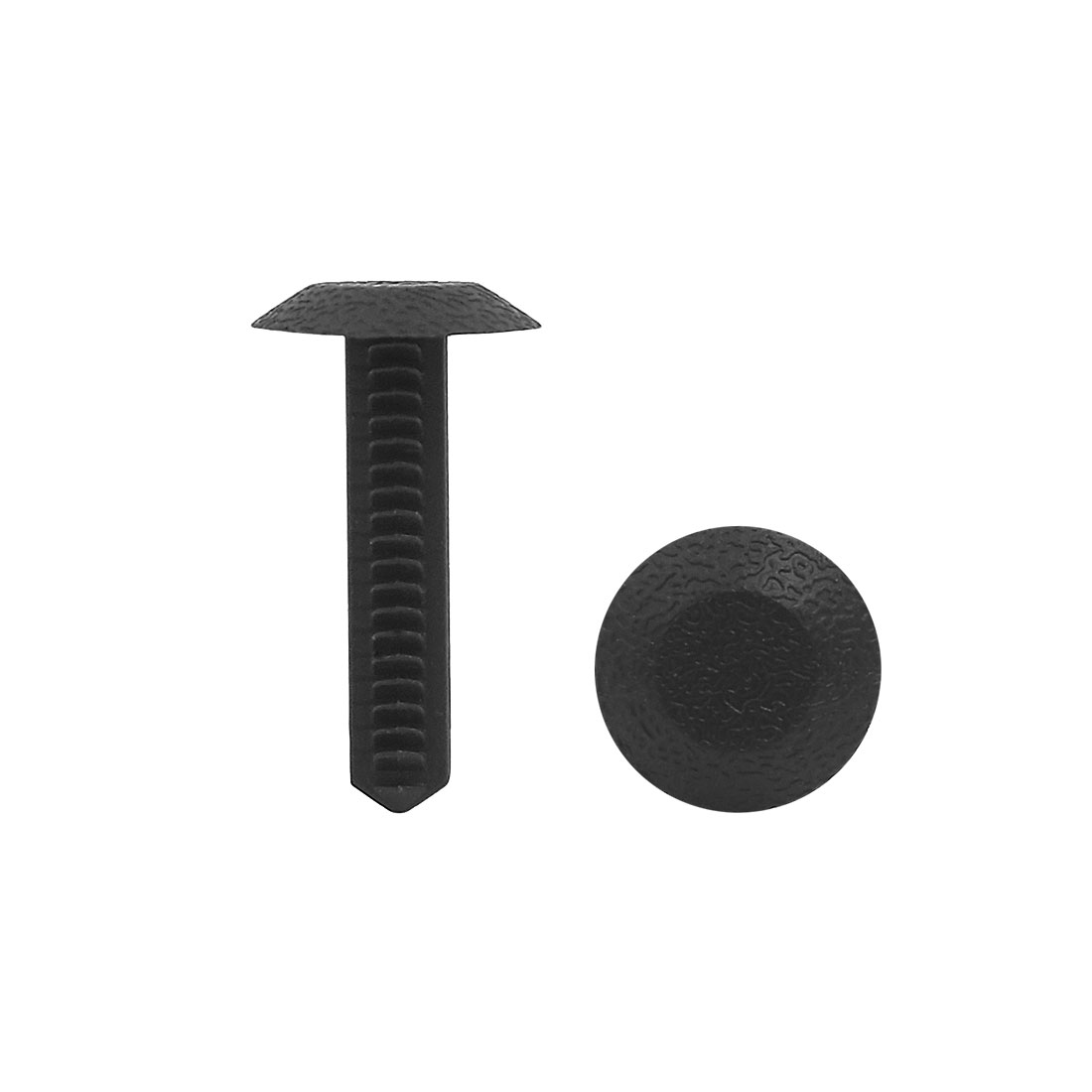 50Pcs Black Plastic Rivets Clips Push Type Bumper Retainer 8mm x 7mm Hole