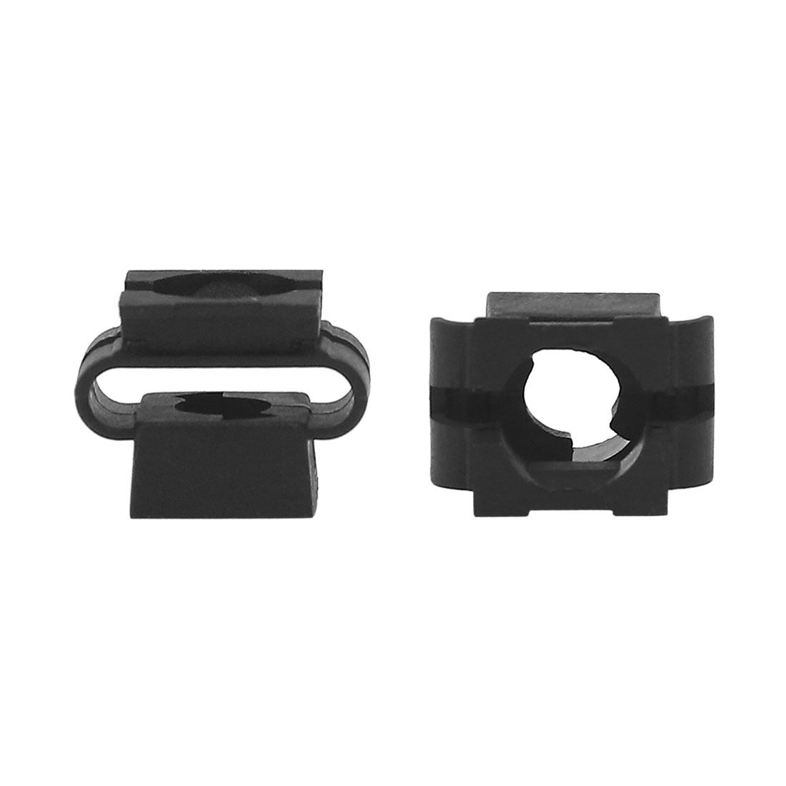 50Pcs Black Car Vehicle Plastic Rivets Fastener Fender Bumper Push Pin Clips