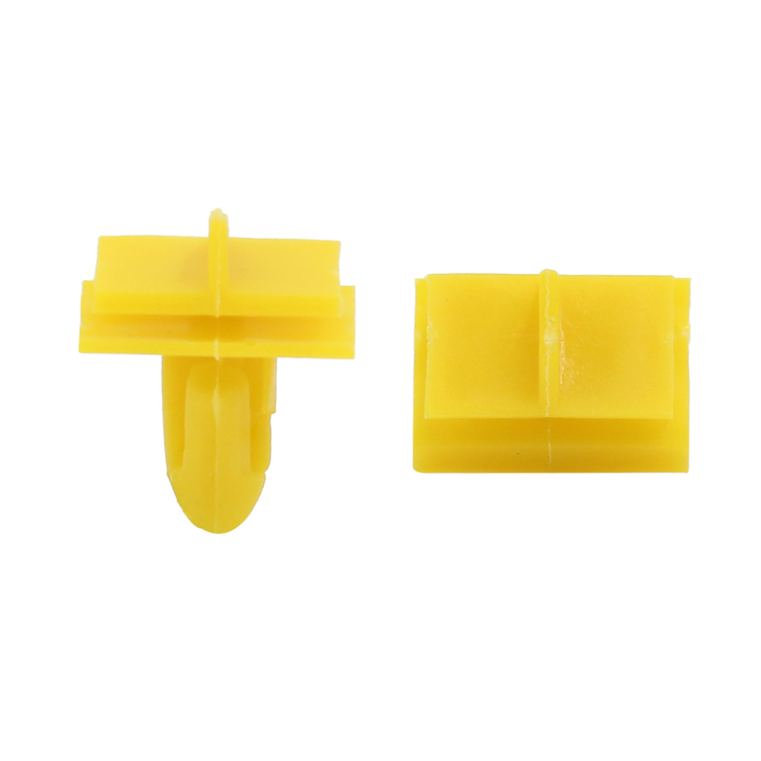 50Pcs 9mm Hole Yellow Plastic Rivets Fastener Splash Guard Clips for Car Fender