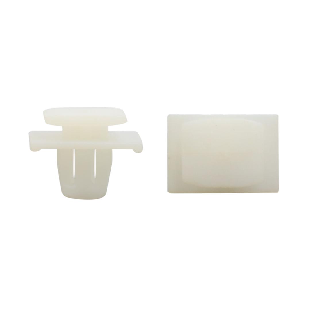 50Pcs Black Plastic 11mm x 10mm Hole Screw Fastener Rivet Retainers Hood Clip