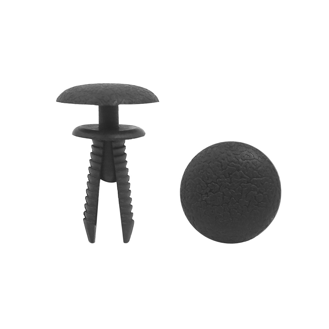 100Pcs Black Auto Vehicle Dash Dashboard Trim Plastic Rivet Fastener 5mm Hole