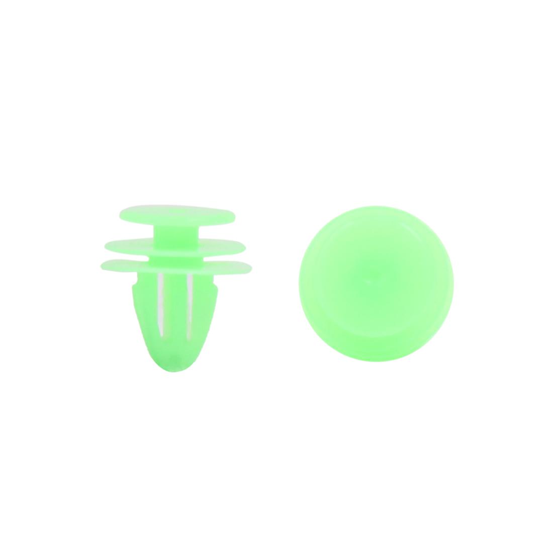 100Pcs 9mm Hole 15.5mm Dia Plastic Rivets Fastener Clips Green for Car Fender