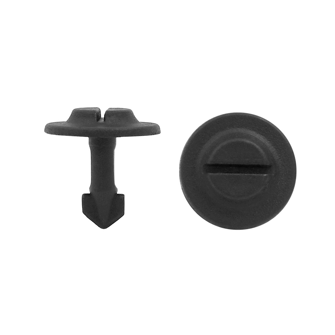 100Pcs 6mm Hole 0.24inches Dia Plastic Rivets Fastener Clips for Auto Fender