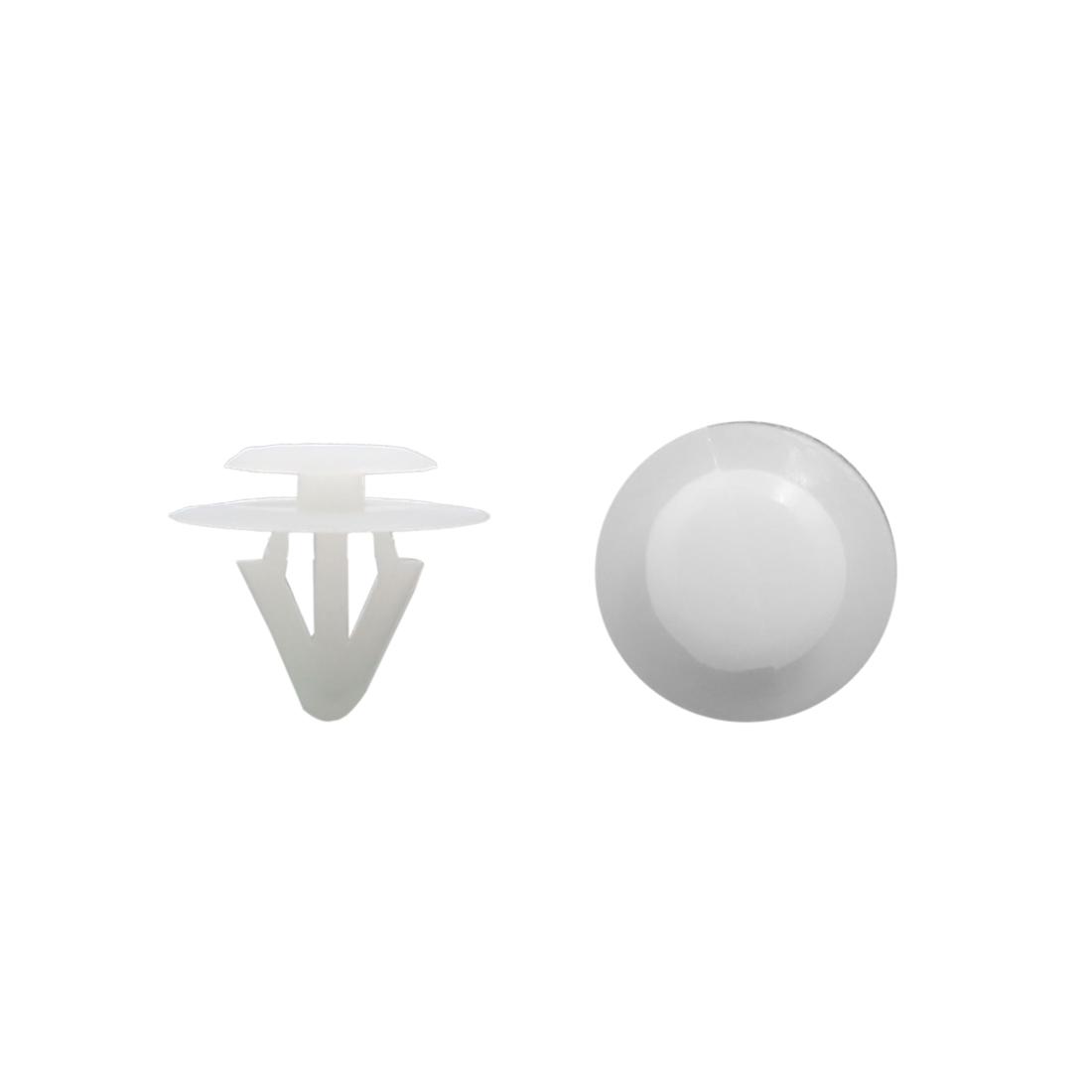 100pcs White Plastic Rivets Clips Push Type Bumper Retainer for Vehicle Car