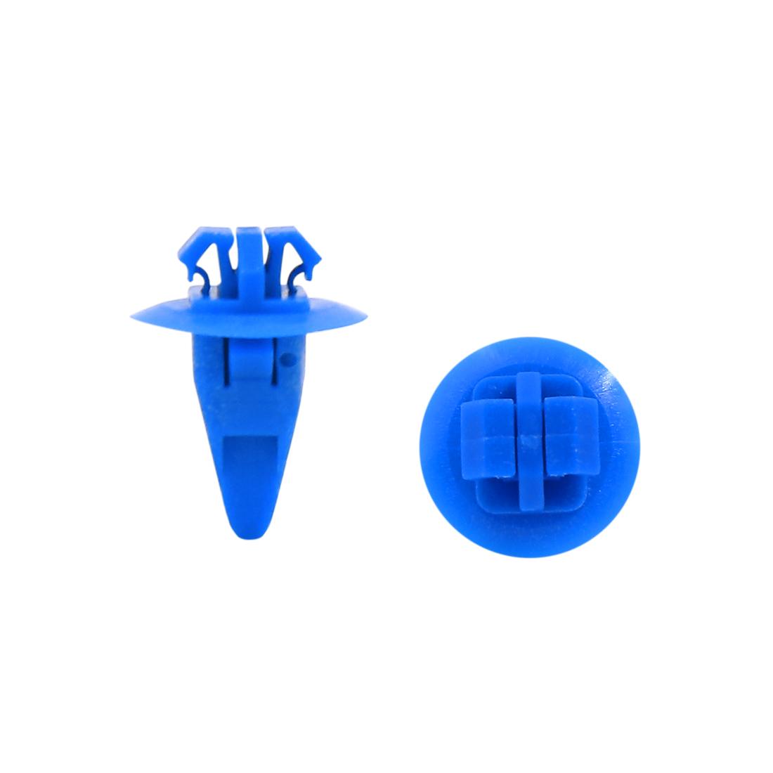 100Pcs 10mm x 8mm Hole Dia Clips Plastic Push Type Rivet Fastener Bumper Pin