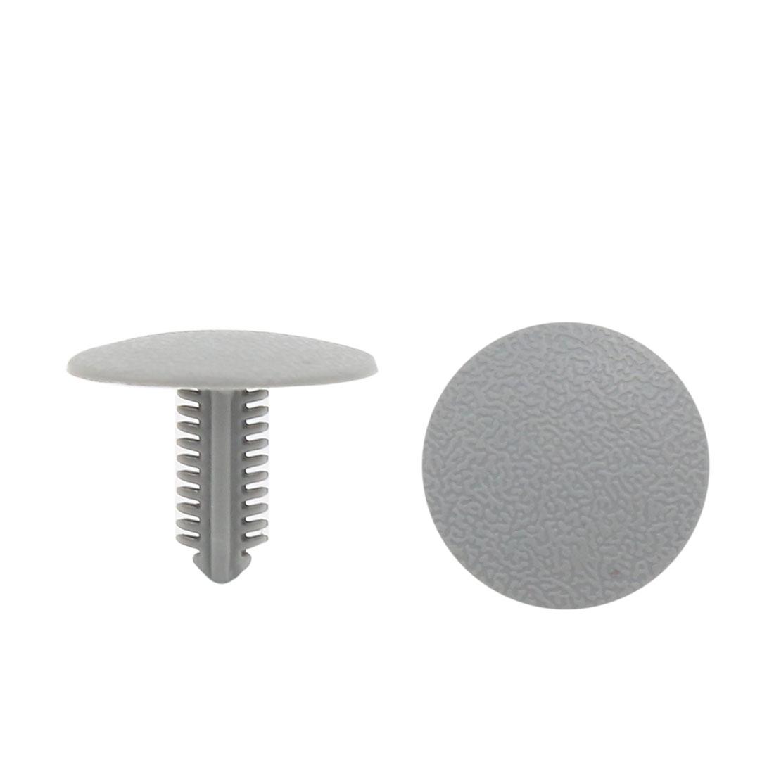 100Pcs Plastic 7mm x 5.5mm Hole Dia Screw Fastener Rivet Retainers Hood Clip