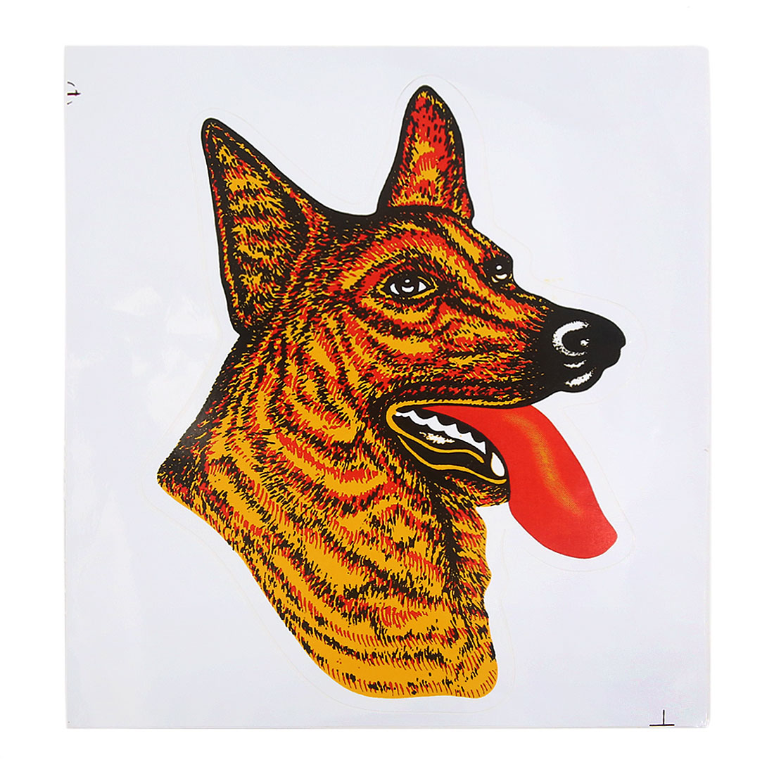 Yellow Wolf Head Pattern Decal Sticker Scratch Cover Sheet for Auto Car