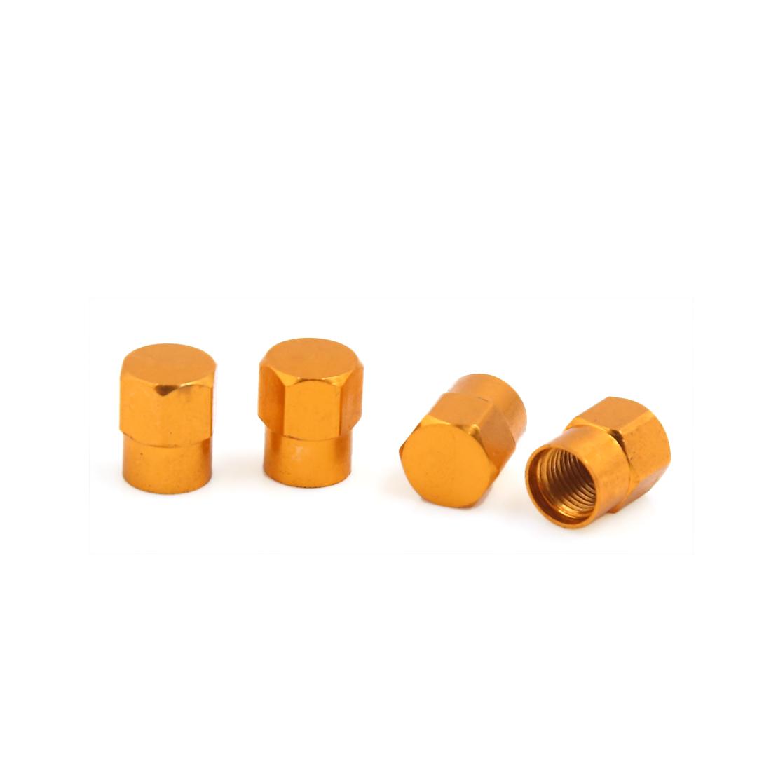 4Pcs Orange Car Motorcycle Wheel Tyre Tire Valve Stem Air Dust Cover Cap