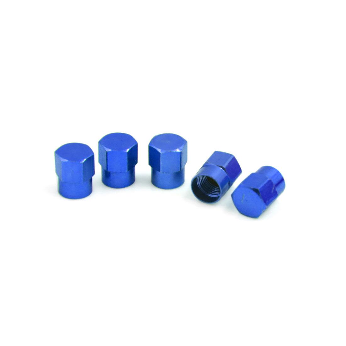 5Pcs Universal Car Motorcycle Wheel Tyre Tire Valve Stem Air Dust Cover Cap Blue