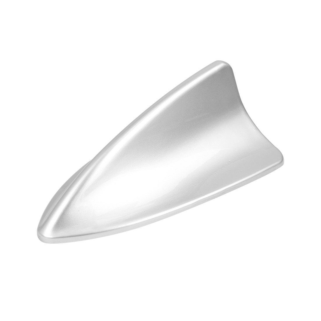 Car Plastic Shark Fin Shape Roof Decorative Decorate Antenna Aerial Silver Tone