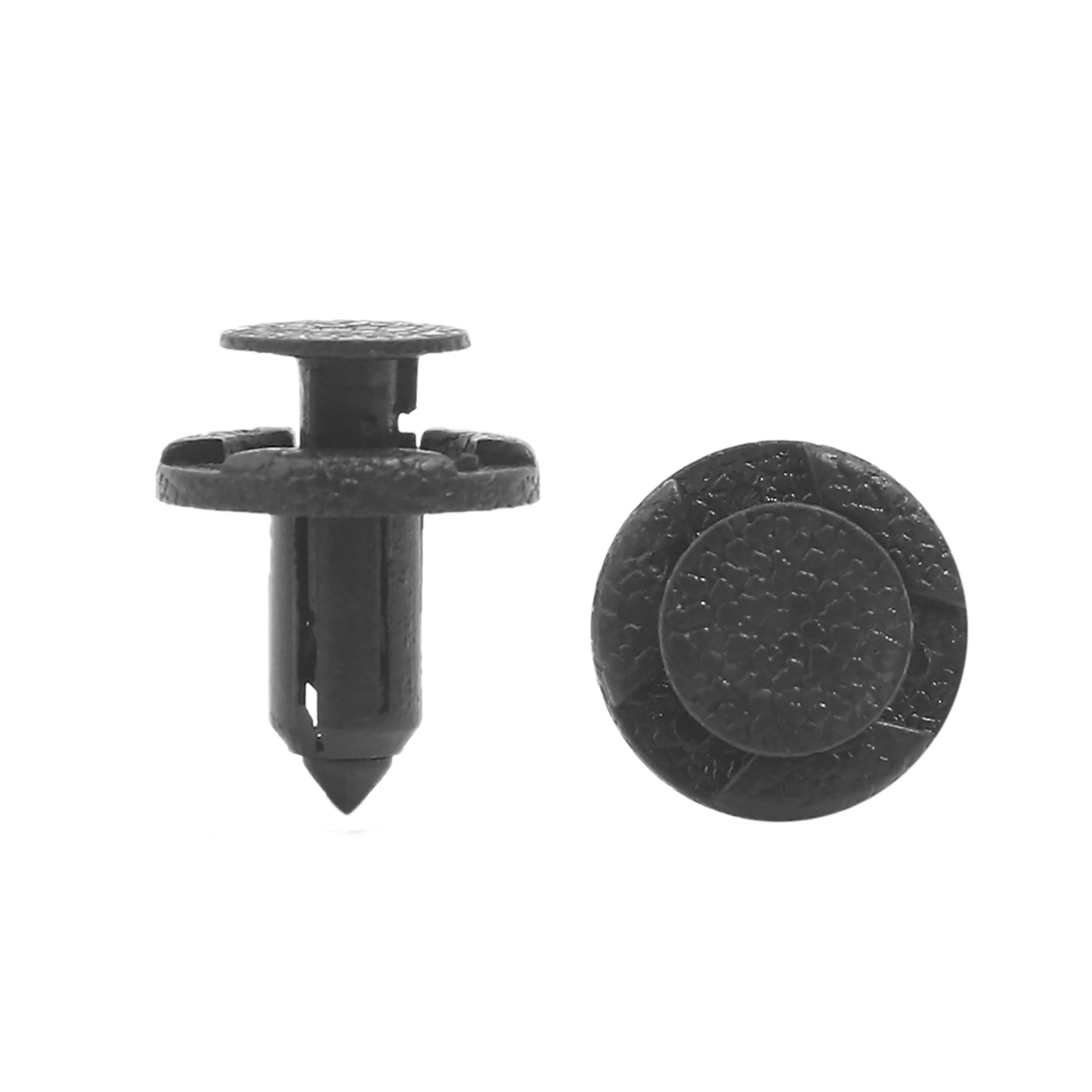 Universal Car Plastic Rivets Push Pin Fastener Fender Retainer Clip Black 100Pcs