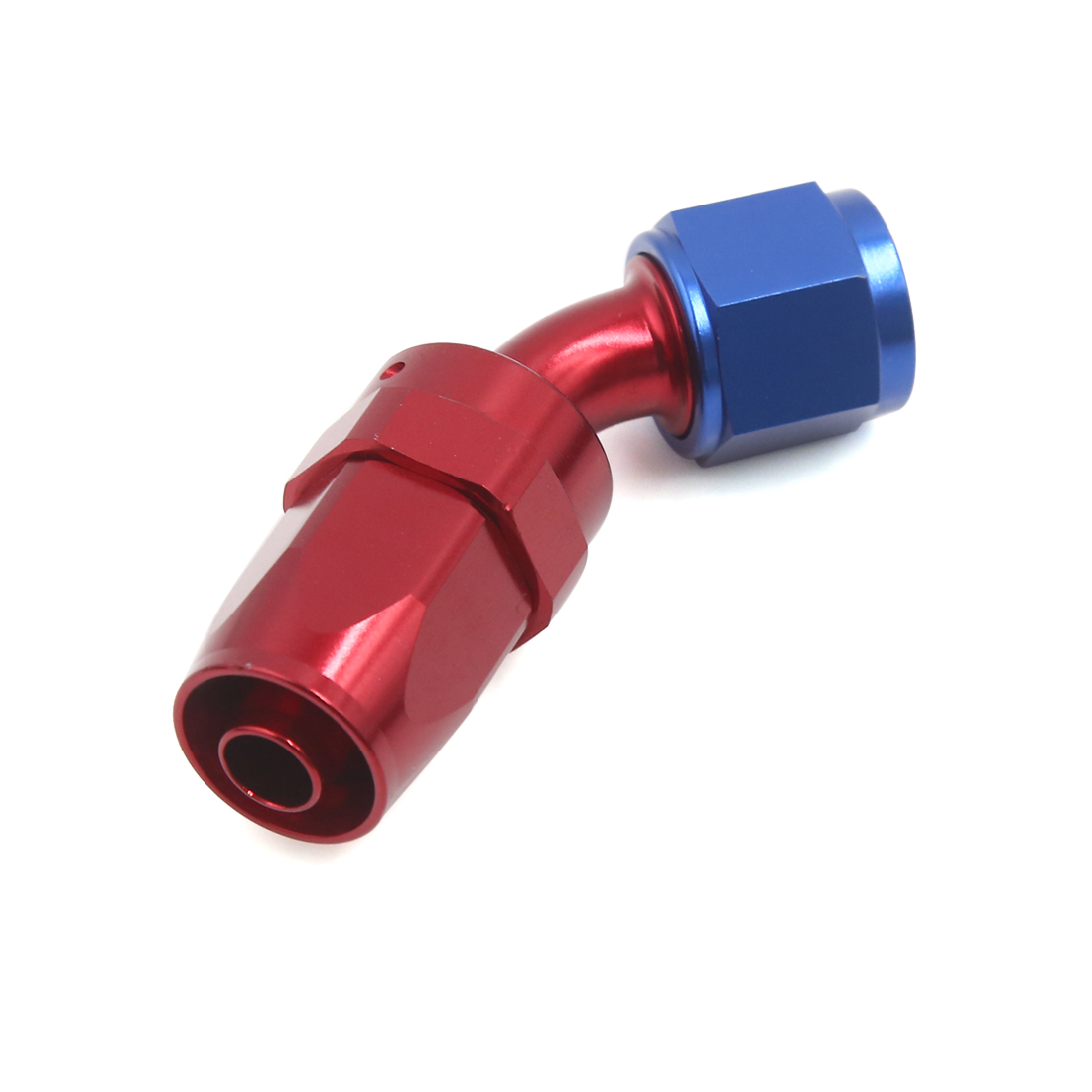 Aluminum Alloy 45 Degree Hose End Car Connector Fittings Adaptor for 10mm Pipe
