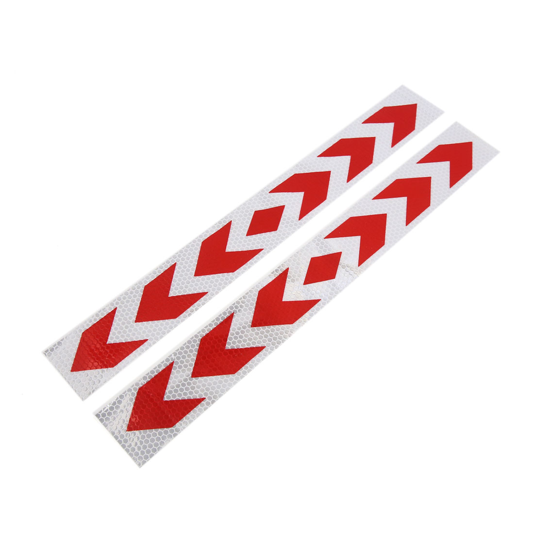 2Pcs Red Arrows Design Stick-on Conspicuity Reflective Safety Sticker Exterior Decal
