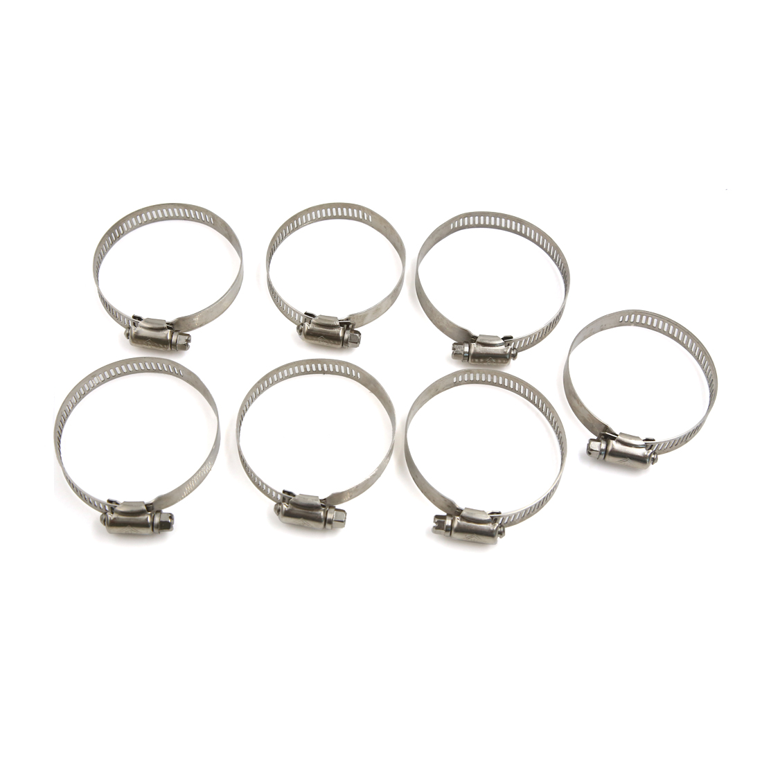 7Pcs Metal Adjustable Hose Clip Clamps Pipe Tube Tight Click 40-64mm for Car